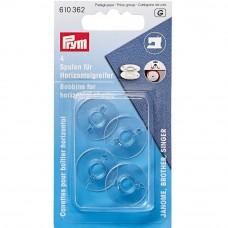 Prym naaimachine spoeltjes kunststof 20,5mm 4 stuks
