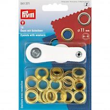 ringen met schijven, nestels 11mm goud Prym