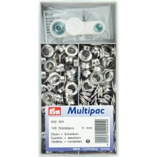 schijven en ringen, nestels 11 mm zilver 120 stuks
