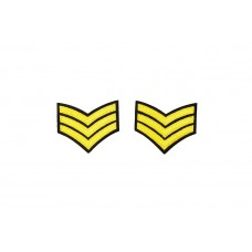 rang onderscheiding embleem geel goud 2 stuks