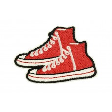 Red sneakers patch