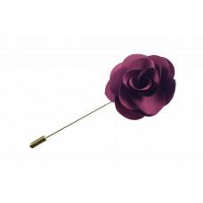 revers pin bloem corsage wijnrood
