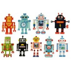 robot patch set opstrijkbaar 9 stuks