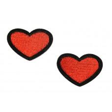 rode hartjes patch 2 stuks