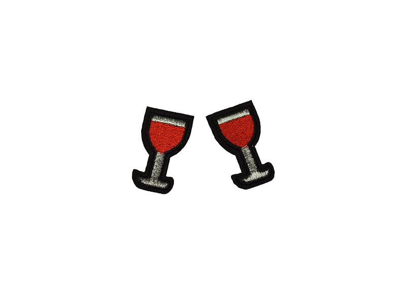 rode wijn applicatie set 2 stuks