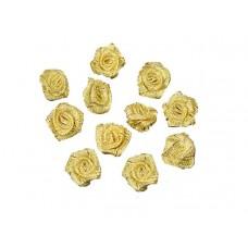 roosjes lurex goud 20 mm (10 stuks)