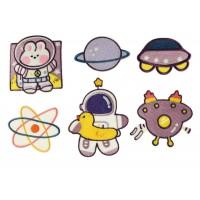 ruimtevaart patch set voor kinderen zelfklevend