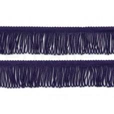 satijnen franje 4 cm paars