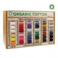 organisch katoen naaigaren Scanfil 100m 34 kleuren
