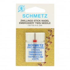 schmetz gold borduur tweeling naald 2/75