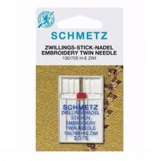 schmetz gold borduur tweeling naald 3/75