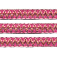 sierband geweven zigzag patroon fuchsia