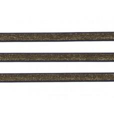 sierelastiek 1 cm donkerblauw met goud lurex 1cm