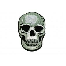 skull applicatie fijn geborduurd