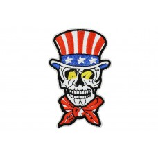 skull met amerikaanse hoed applicatie
