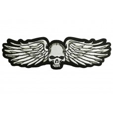 skull met vleugels applicatie XL 20x5cm