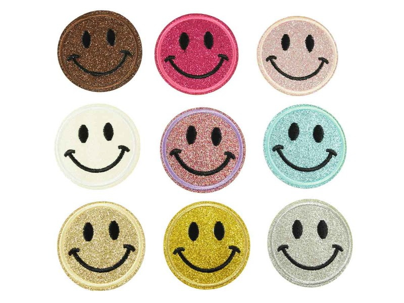 smiley applicatie set glitter 9 stuks