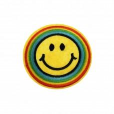 smiley met gekleurde randen