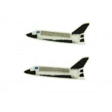 space shuttle patch opstrijkbaar 2 stuks