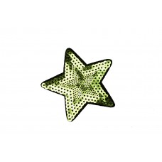 ster applicatie lime pailletten 7,5 cm
