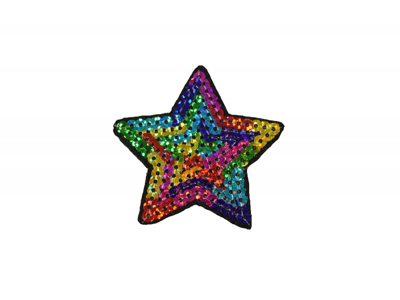 ster applicatie multicolor pailletten