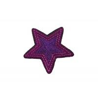ster applicatie paars lila pailletten 7,5 cm
