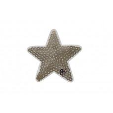 ster applicatie pailletten zilver 7 cm