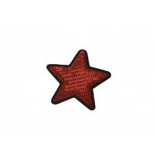 ster applicatie rood fijne pailletten 7 cm