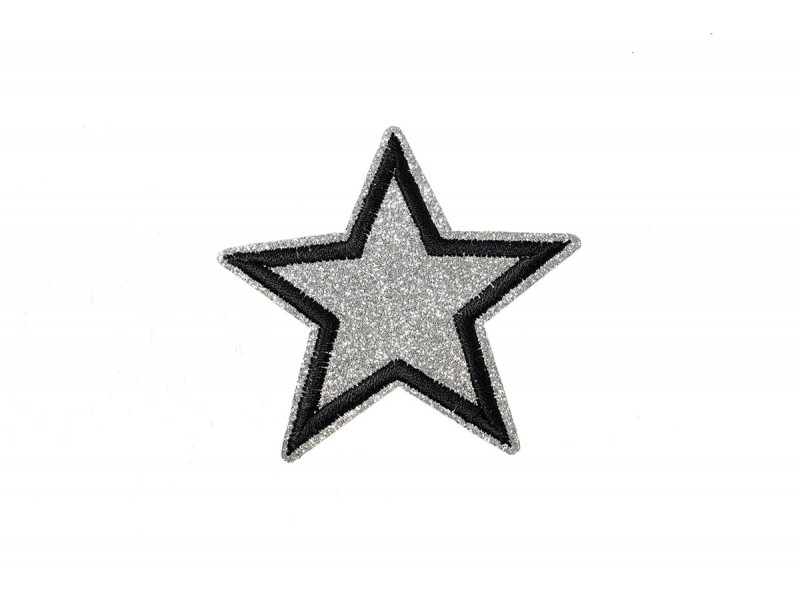 ster applicatie zilver glitter