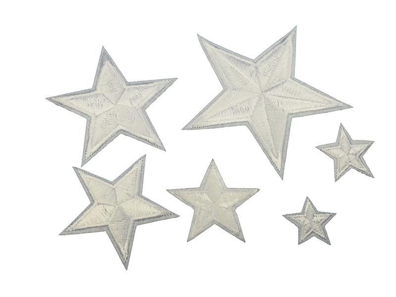 sterren applicatie set wit