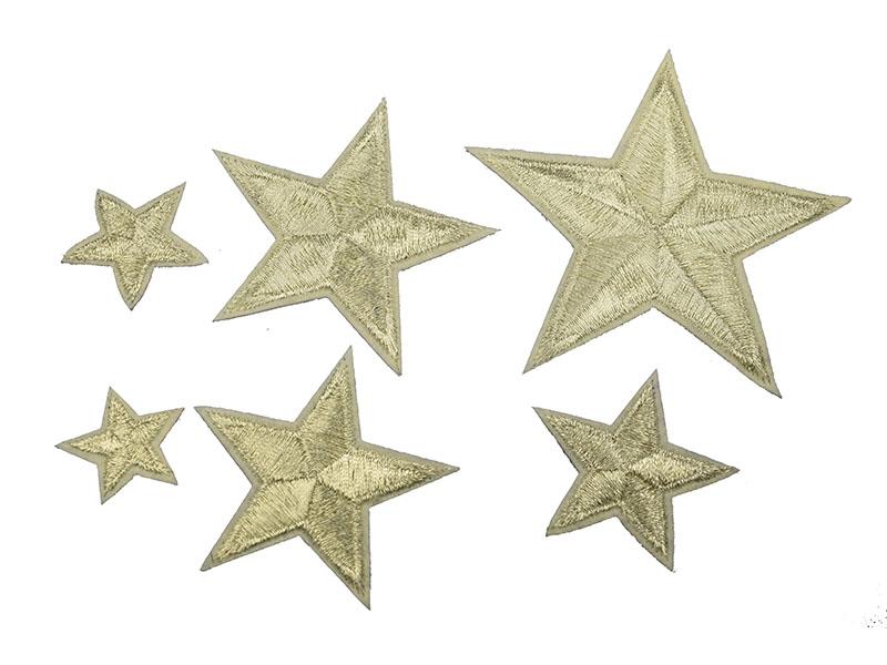 sterren applicatie set zilver