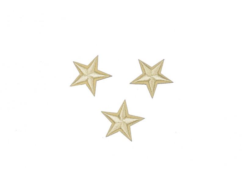 sterren patch set beige 2,5 cm 3 stuks
