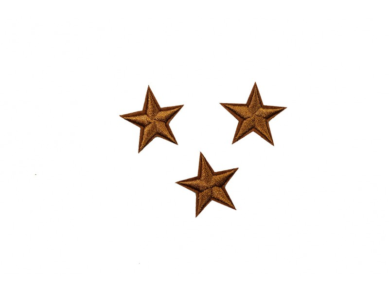 sterren patch set bruin 2,5 cm 3 stuks