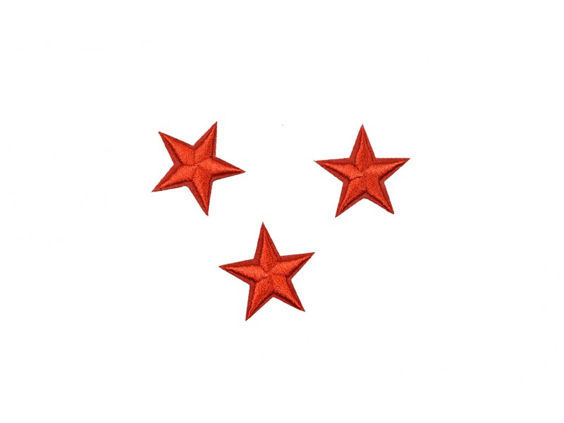 sterren patch set rood 2,5 cm 3 stuks