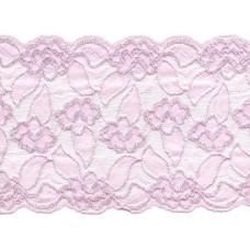 Stretch kant 15 cm roze