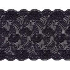 Stretch kant 15 cm zwart