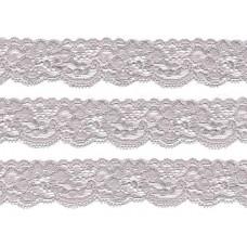 stretch kant zilver grijs 3 cm