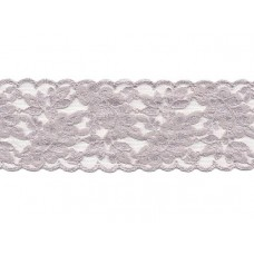 stretch kant zilver grijs 6.5 cm