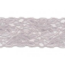 stretch kant zilver grijs 8 cm