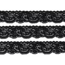stretch kant zwart 3 cm