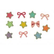 strikjes en sterren patch set voor kinderen zelfklevend