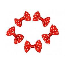 strikjes set rood met witte stip 5 stuks