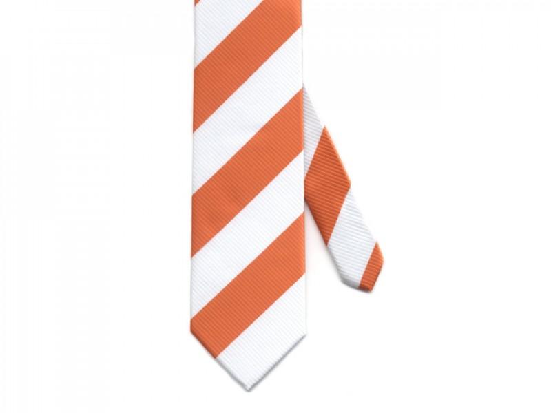 stropdas oranje wit