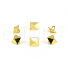 studs knopen pyramide goud