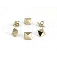 studs knopen pyramide zilver