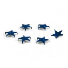 studs stervormig blauw 15 mm (30 stuks)