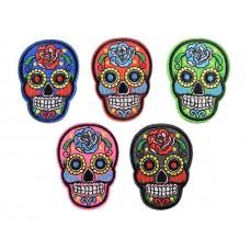 sugar skull set 5 stuks opstrijkbaar