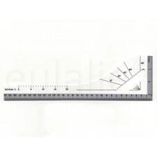 tekenliniaal, tekenhaak 30 cm