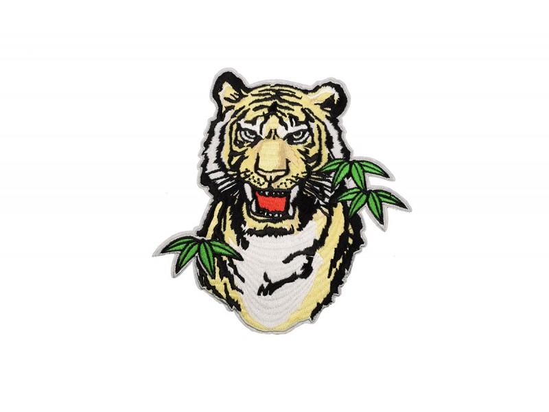 tijgerkop applicatie large 16 x 16 cm
