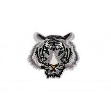 tijgerkop applicatie wit 9 x 10 cm